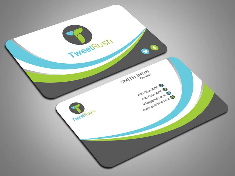 Entry #56 by itopup777 for Design some Business Cards For TweetRush ...