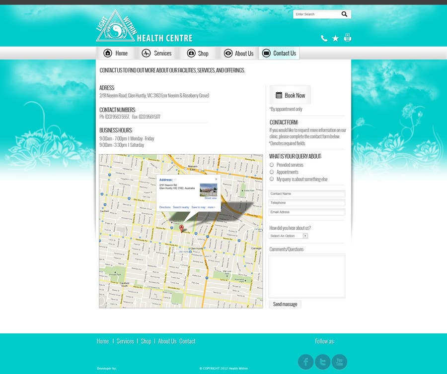 Proposition n°3 du concours web design 2/3 pages - custom project for dizajnline ONLY
