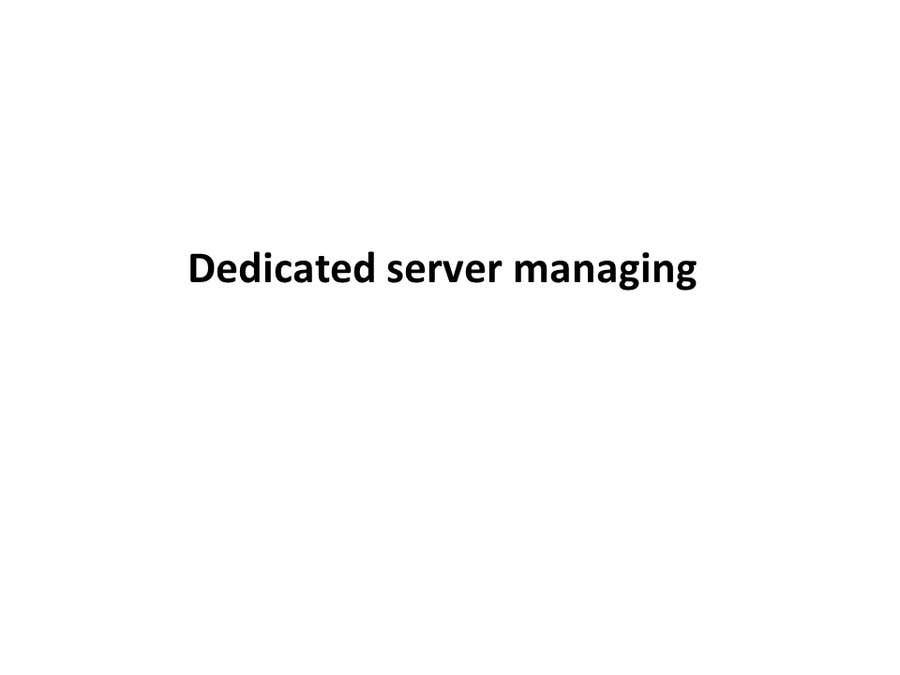 #6 for Dedicated server managing by CreateFast