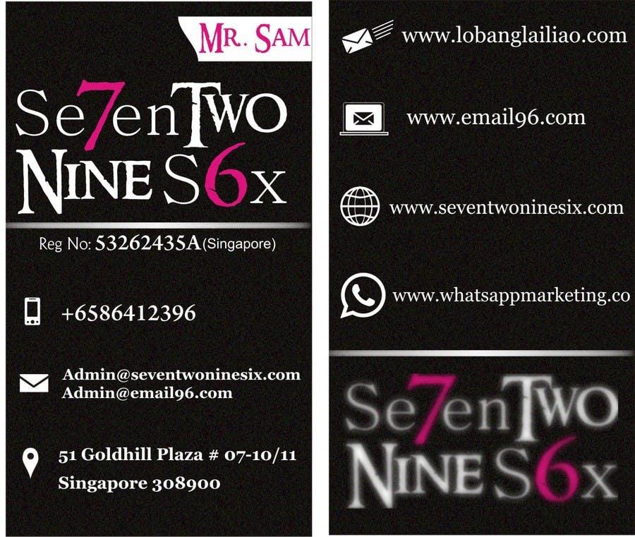 Penyertaan Peraduan #                                        17                                      untuk                                         Design some Business Cards for SevenTwoNineSix