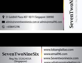 #20 untuk Design some Business Cards for SevenTwoNineSix oleh dodiaheena17