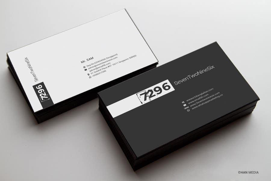 Penyertaan Peraduan #                                        18                                      untuk                                         Design some Business Cards for SevenTwoNineSix