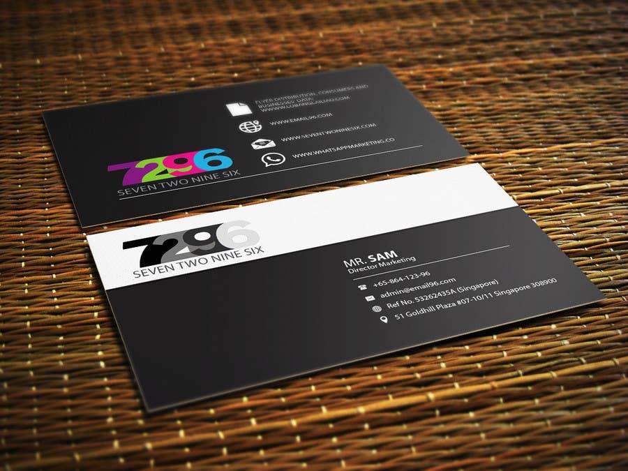 Penyertaan Peraduan #                                        22                                      untuk                                         Design some Business Cards for SevenTwoNineSix