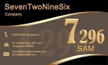 Penyertaan Peraduan #                                        21                                      untuk                                         Design some Business Cards for SevenTwoNineSix