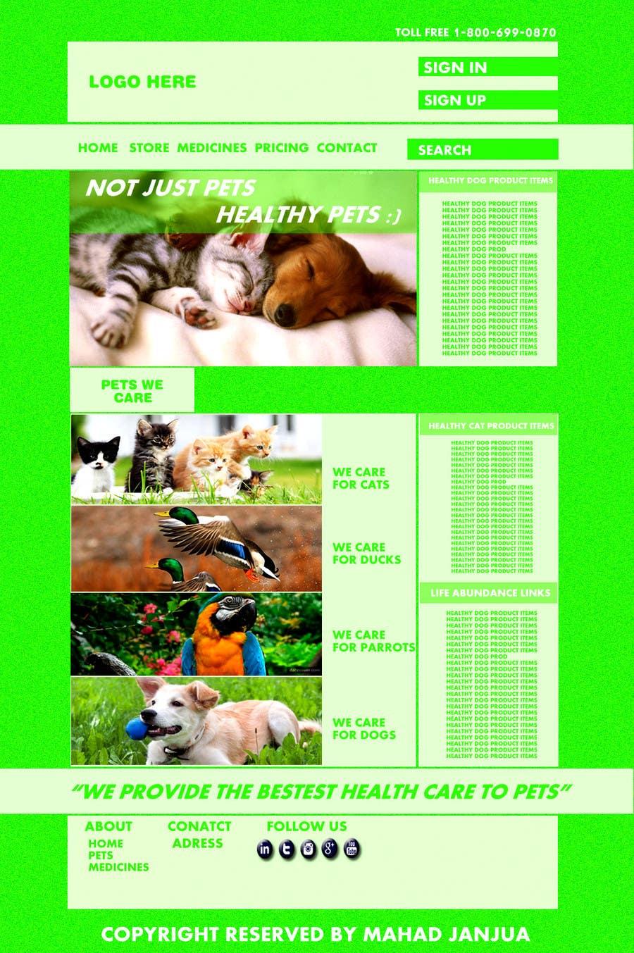 Penyertaan Peraduan #                                        2                                      untuk                                         Design a Wordpress Mockup for Pet Food Website