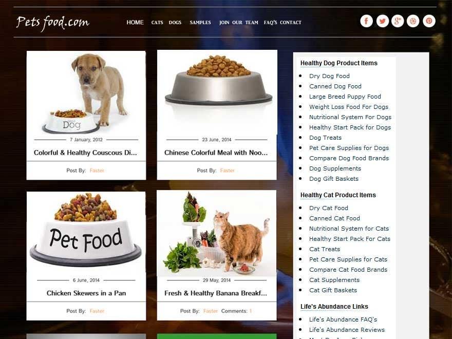 Penyertaan Peraduan #                                        18                                      untuk                                         Design a Wordpress Mockup for Pet Food Website
