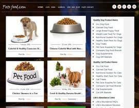 #18 untuk Design a Wordpress Mockup for Pet Food Website oleh amitedu