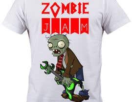 "#9 untuk Design a T-Shirt for a kids' band called ""Zombie J.A.M."" oleh caspercham"