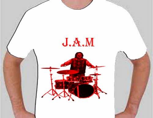 """Penyertaan Peraduan #                                        3                                      untuk                                         Design a T-Shirt for a kids' band called """"Zombie J.A.M."""""""