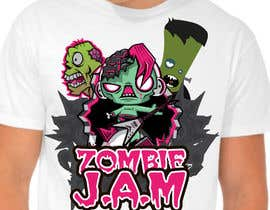 "#17 untuk Design a T-Shirt for a kids' band called ""Zombie J.A.M."" oleh Christina850"