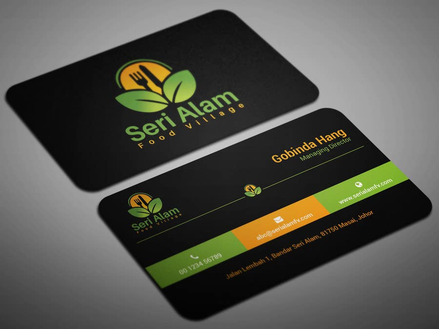 Entry #120 by smartghart for Design Business Card - Food Village ...