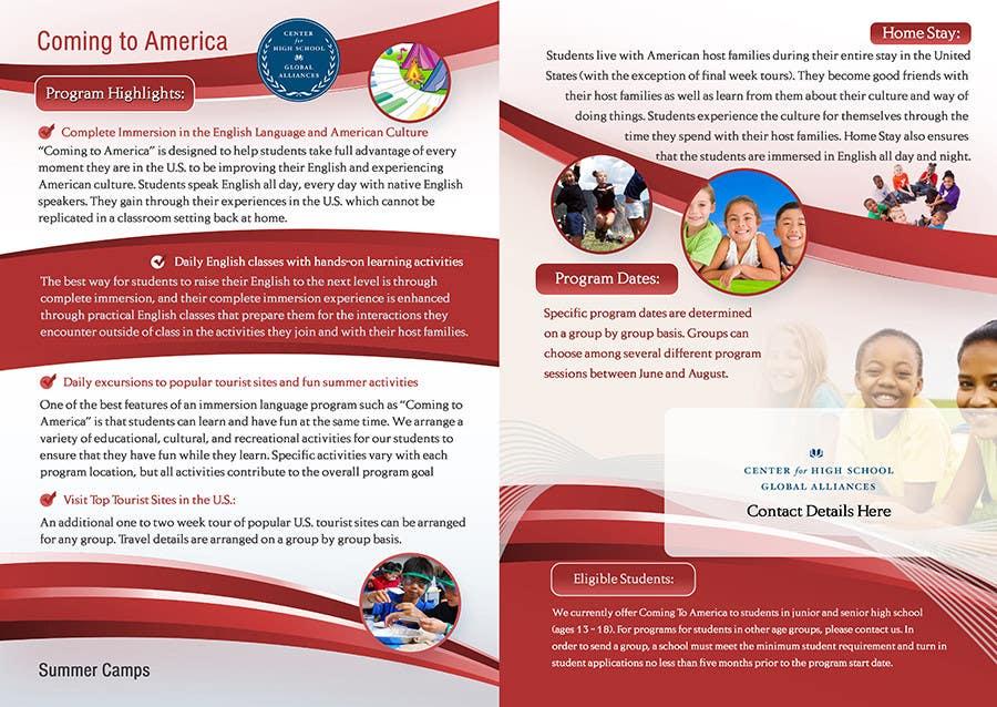 Inscrição nº 16 do Concurso para Brochure Design for Center for High School Global Alliances