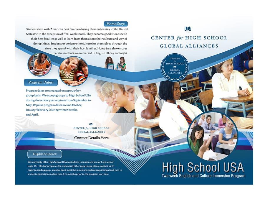 Конкурсная заявка №9 для Brochure Design for Center for High School Global Alliances