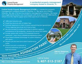 #55 cho Ashington Park Flyer Design for Central Florida Property Management bởi mfbdeip
