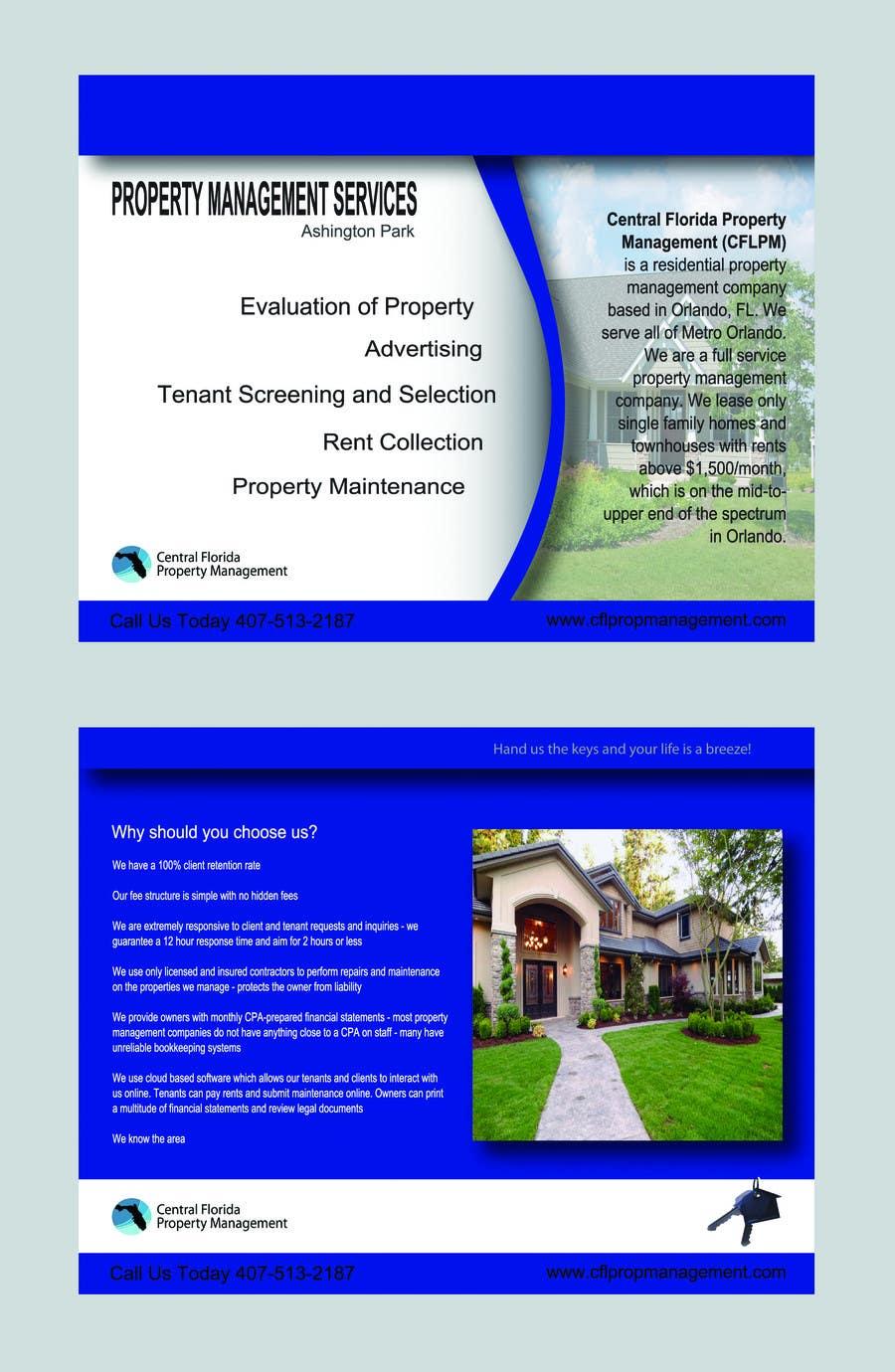 #61 for Ashington Park Flyer Design for Central Florida Property Management by annaputnik