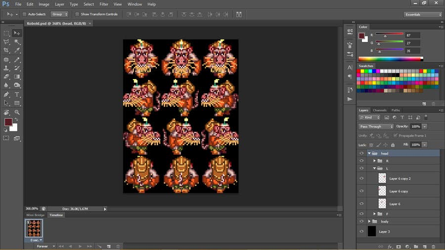 Entry #5 by karmachela for Kobold Pixel Art (Sprite for Rpg