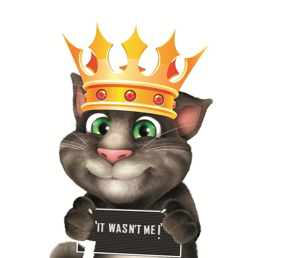 Bài tham dự cuộc thi #                                        20                                      cho                                         make and put crown on cat's head.