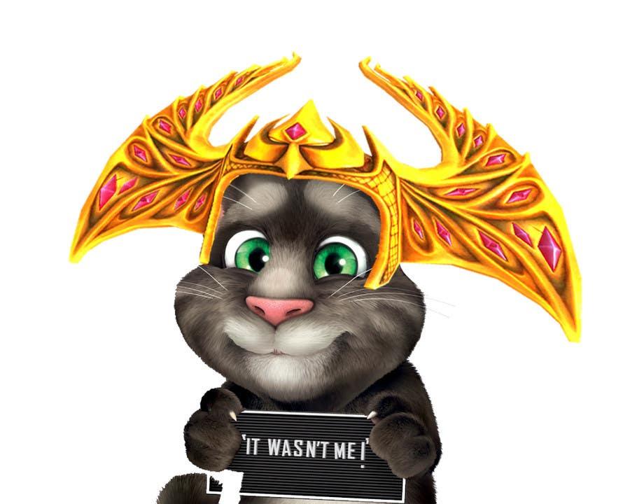 Bài tham dự cuộc thi #                                        12                                      cho                                         make and put crown on cat's head.