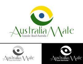 jonamino tarafından Design a Logo for AustraliaMate.com.br için no 48