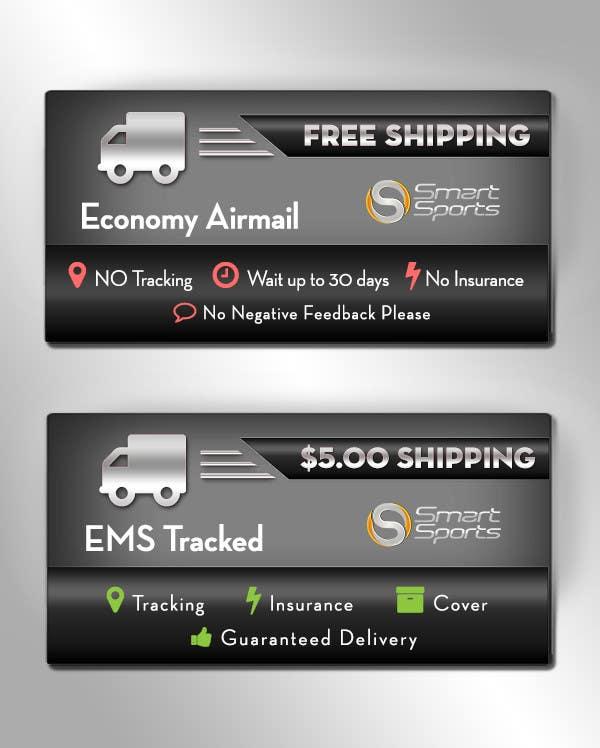 Penyertaan Peraduan #                                        18                                      untuk                                         Design 2 Icons for Shipping profile on ebay