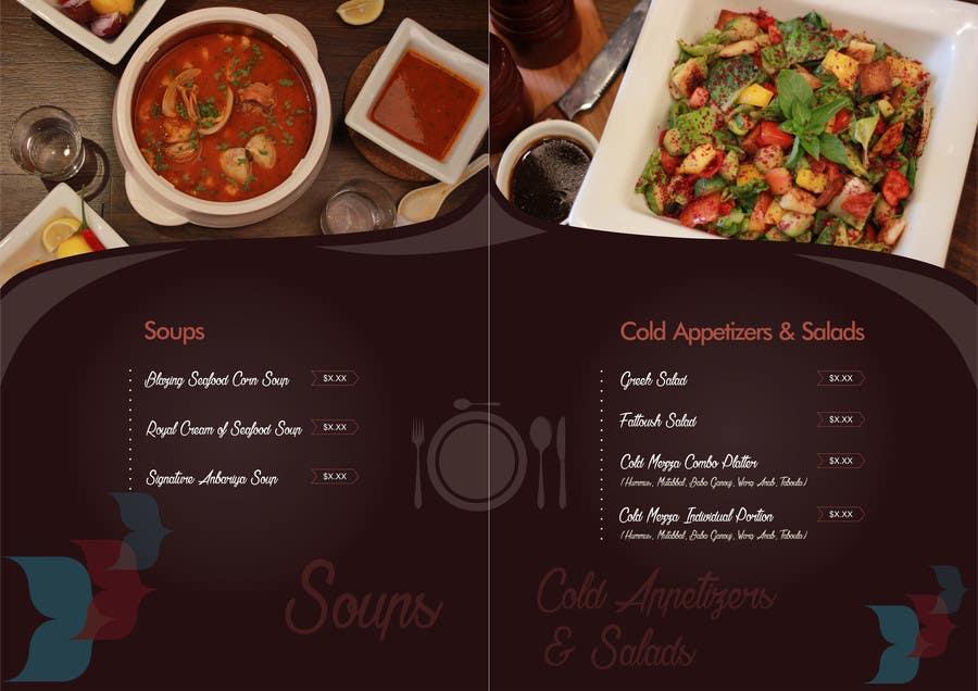 entry 8 by dezignr for fine dining restaurant menu design freelancer