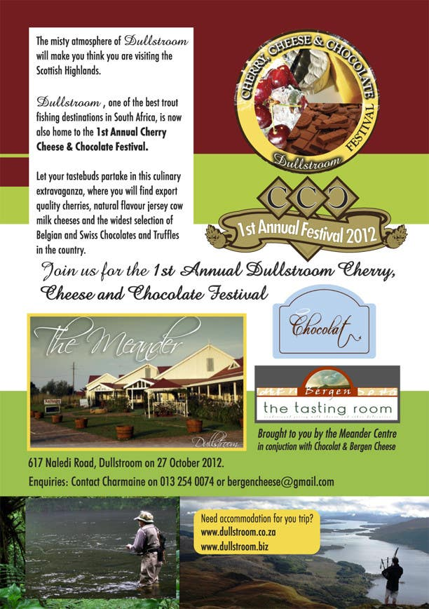 Contest Entry #                                        17                                      for                                         Flyer & Basic Logo for Dullstroom Cherry Cheese and Chocolate Festival