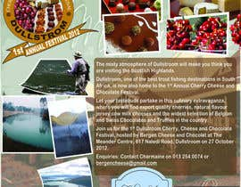 #21 para Flyer & Basic Logo for Dullstroom Cherry Cheese and Chocolate Festival por jmars001