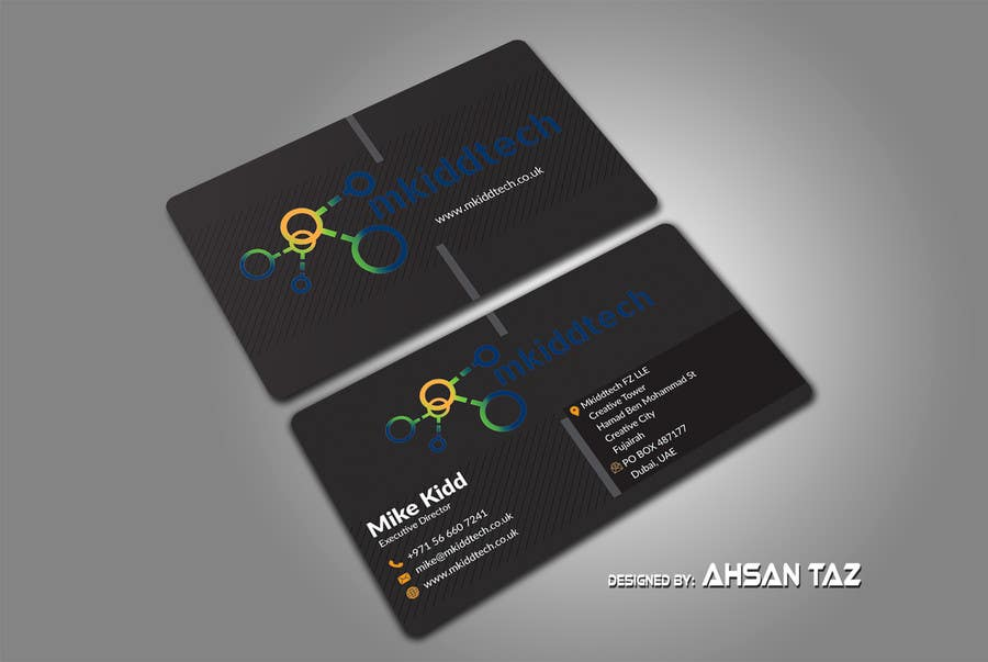 Entry 36 by tazbabu420 for design a business card template for contest entry 36 for design a business card template for mkiddtech fz lle in english reheart Choice Image