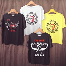 #17 for Design 3 Tshirt designs- for tshirt transfer/printing by Humaira12