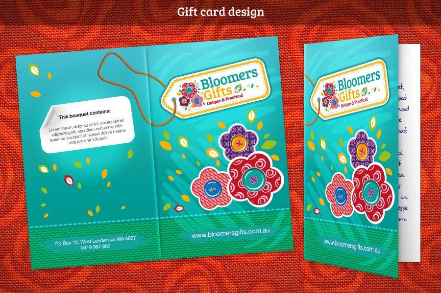 Kilpailutyö #                                        79                                      kilpailussa                                         Graphic design work for Bloomers Gifts
