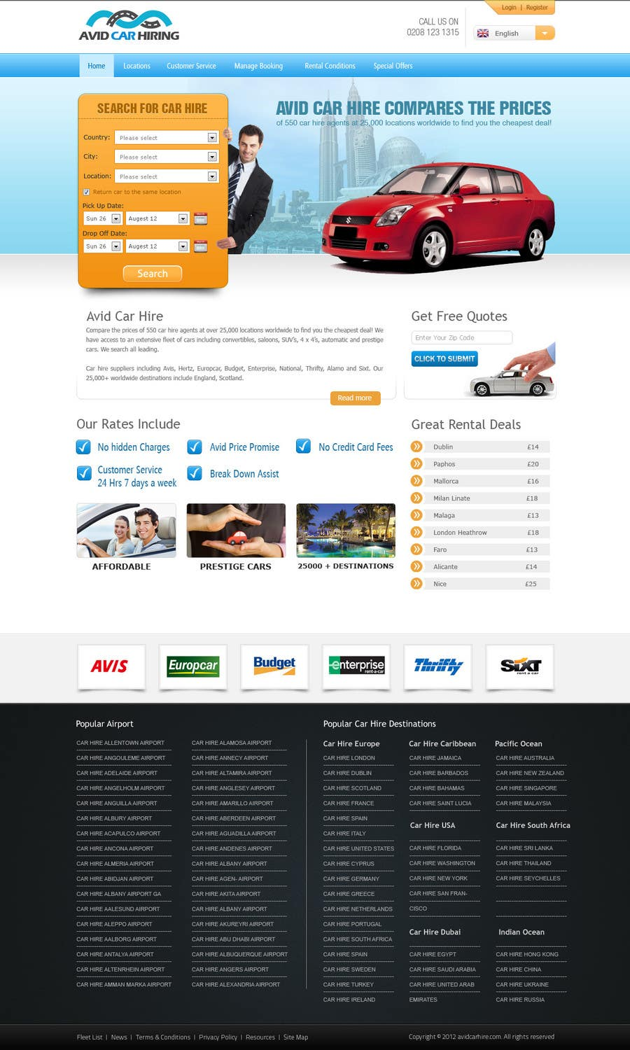 Inscrição nº                                         81                                      do Concurso para                                         Website Design for Avid Car Hire