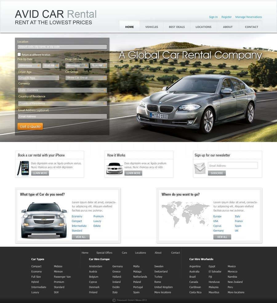 Inscrição nº                                         63                                      do Concurso para                                         Website Design for Avid Car Hire