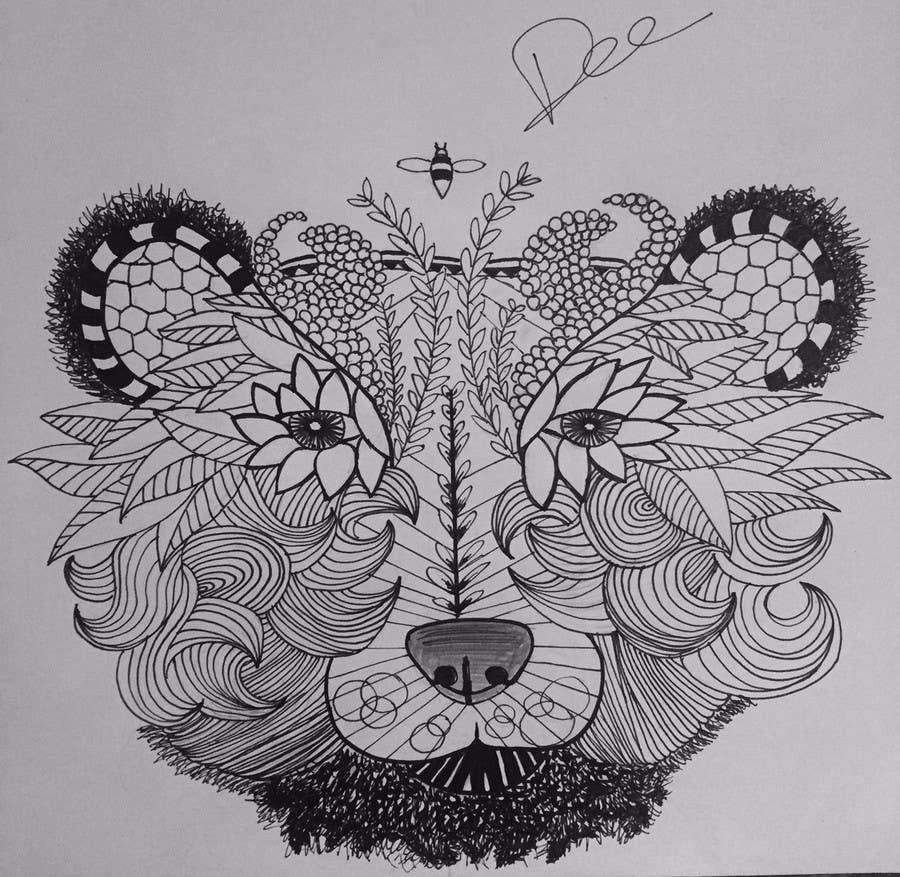 #17 para Handrawn Artistic Bear (head only) Design de dhyane