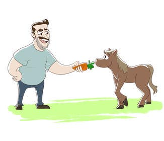 #8 für Design a T-Shirt LLoyd feeding the pony von DominionV