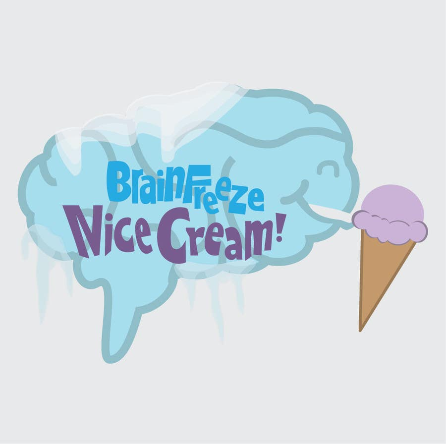 #22 for Develop a Sign for Brain Freeze NiceCream by kristincraw