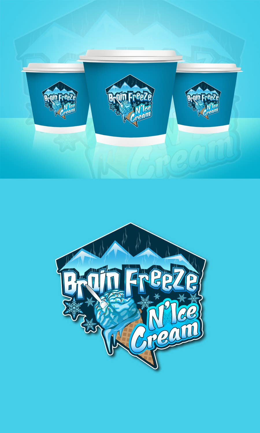#23 for Develop a Sign for Brain Freeze NiceCream by Plastmass