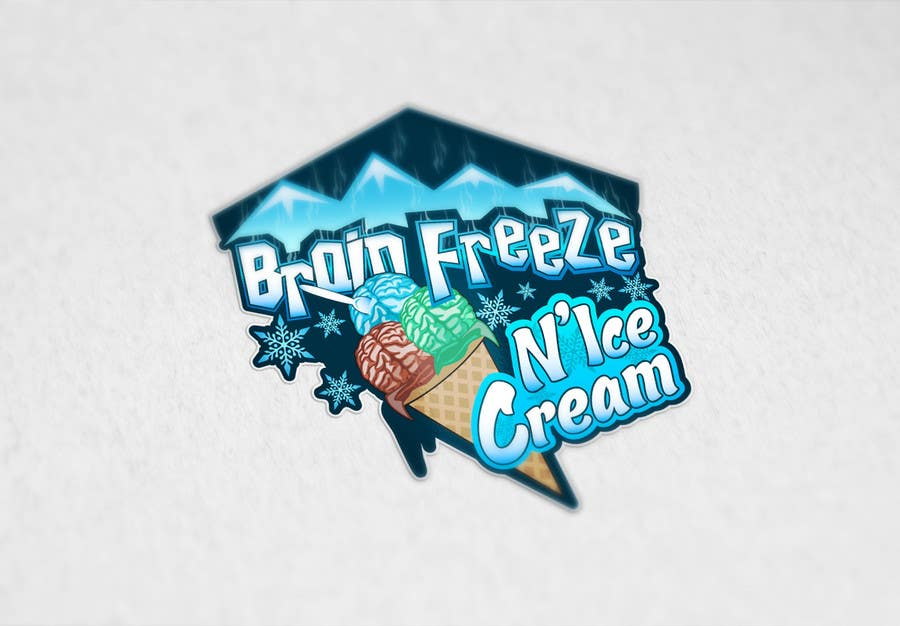 #29 for Develop a Sign for Brain Freeze NiceCream by Plastmass