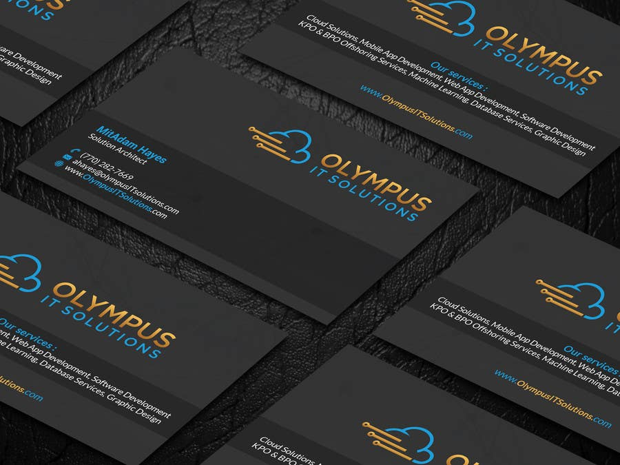 Entry #16 by mahmudkhan44 for Design some Business Cards for an IT ...