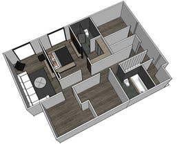 cknamkoi tarafından Floor Plan Redesign for 2 Rooms için no 26