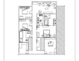 chiarabellini tarafından Floor Plan Redesign for 2 Rooms için no 24