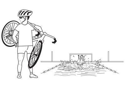 Image of                             3 cartoons for Triathlon Book