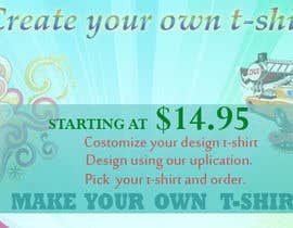 nº 8 pour DESIGN A BANNER FOR A CUSTOM T-SHIRT DESIGN WEBSITE par kingmaravilla