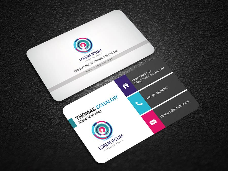 Entry #22 by sumonbgh for Business Card for a Digital Marketing ...