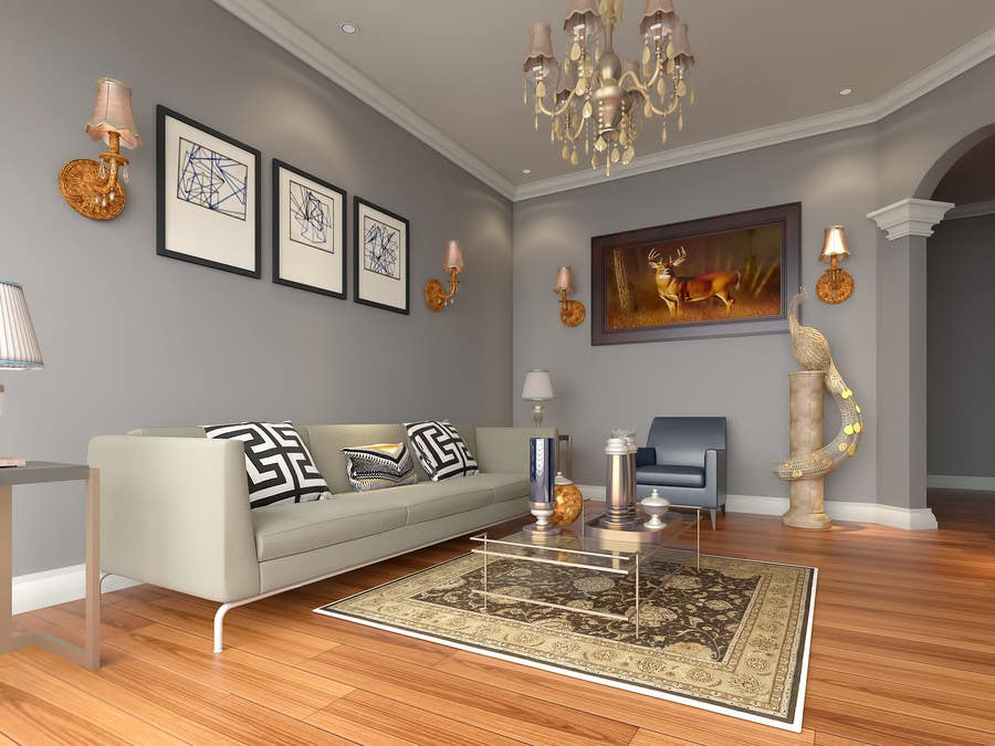 Contest Entry #20 For 3D INTERIOR ROOM MODELING