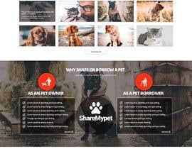 Nro 71 kilpailuun Design a Website Mockup for a pet site käyttäjältä nikil02an