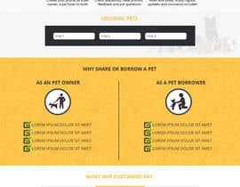 Nro 48 kilpailuun Design a Website Mockup for a pet site käyttäjältä Ecku
