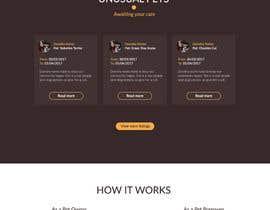 Nro 72 kilpailuun Design a Website Mockup for a pet site käyttäjältä jramos
