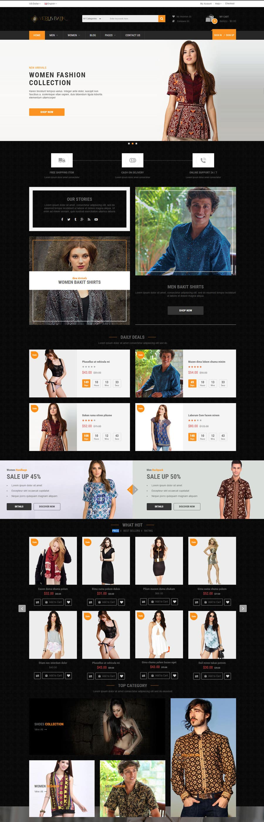 Create an online clothing store