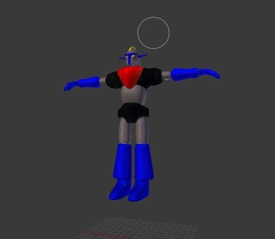 Bài tham dự cuộc thi #                                        5                                      cho                                         Anime Super Robot 3D Model Textured Rigged