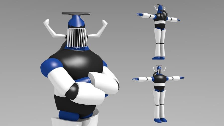 Bài tham dự cuộc thi #                                        8                                      cho                                         Anime Super Robot 3D Model Textured Rigged